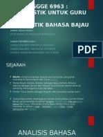 Linguistik Bahasa Bajau