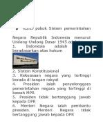 7Kunci Pokok Sistem Pemerintahan Negara Republik Indonesia