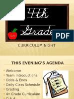4th grade curriculum night 2016 - 2017