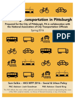 Rethinking Transportation in Pittsburgh - Sam Salkin -Spring 2016