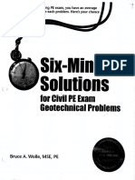 Six-minute Solutions for Civil PE Exam Geotechnical Problems