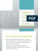 The Role of Culture in Cognitive Development - Class Lecture