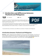 Similarities and Differences Between Thailand and Philippines