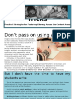 Literacy Tips and Tricks--Write Around