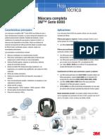 Máscara Completa 3m Serie 6000 Technical Datasheets