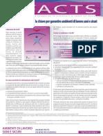 Factsheet 81 - La Valutazione Dei Rischi- La Chiave Per Garantire Ambienti Di Lavoro Sani e Sicuris
