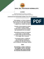 Himno Nacional Del Profesor Normalista