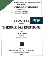 Jean-Paul Sartre: Esquisse d'une théorie des Émotions