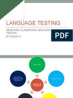 Language Testing (Designing Classroom Language Tests)