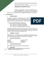Memoria Descriptiva Estrutura Arquitectura e Instalaciones General
