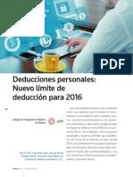 Deducciones Personales Nuevo l Mite de Deducci n Para 2016