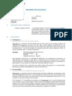 Informe Psicológico - JULISA LAU