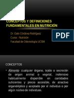 Clase 1 Conceptos y Definiciones Fundamentales en Nutrición