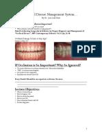 Occlusal Disease HANDOUTS