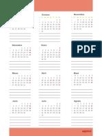 Calendario Año Rojo