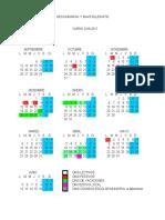 Calendario Secundaria y Bachillerato 2016 2017