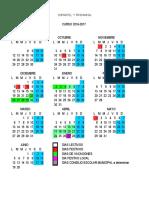 Calendario Infantil y Primaria