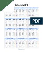 Calendario 2016 Portrait