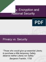 Privacy v Security