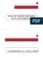 Role of Seismic Methods in Oil Exploration
