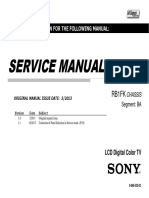Sony Kdl-40r474a Chassis Rb1fk