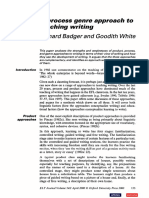 Badger and White - A Process Genre Approach to Teaching Writing