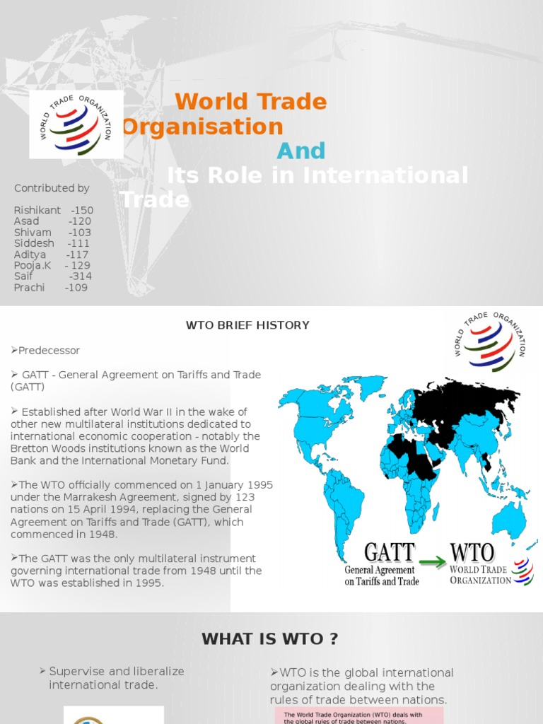Wto Changes In Intro Backgroundpptx World Trade Organization