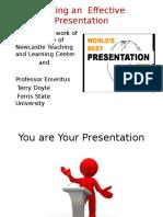 Presentation on Making an Effective Presentation 2016