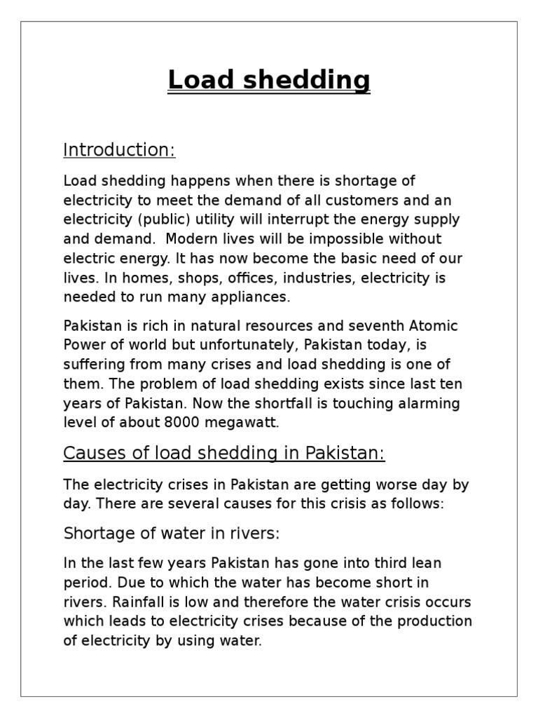 7e31e00094 load shedding info | Nuclear Power | Energy Crisis
