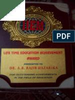 Dr.A.B.Rajib Hazarika,PhD,FRAS,AES's Trophy iiem