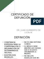 CERTIFICADO DE DEFUNCIÓN.ppt