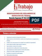 MODIFICACIONES AL REGLAMENTO DE LA LEY GENERAL DE INSPECCION DEL TRABAJO DS 012-2013-TR 2016.pdf