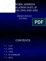 NAT, DNS, IP address, Atm