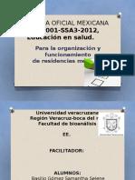 Norma Oficial Mexicana Nom 001 Ssa3 2012