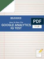 How to Pass Google Analytics IQ Test