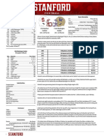 Stanford game notes, depth chart