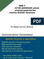 Bab XIII Teknik Bioteknologi Untuk Penyelamatan Plasma Nutfah Tanaman