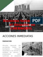 Acciones Tomadas en El Desastre de CHERNOBYL