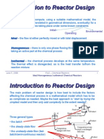 iv-3 - ideal homogeneous chemical reactors