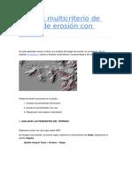 Análisis Multicriterio de Riesgo de Erosión Con ArcGIS
