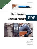 Marketing communication- Huawei Matebook