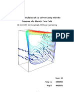 Numerical Simulation of Lid Driven Cavity with the Presence of a Block in Flow Field