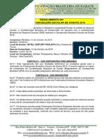 Regulamento Do Campeonato Brasileiro Escolar de Karate 2016