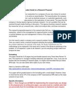 Research Prospectus Guideline