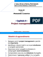 Capitolo 9 - Project Management