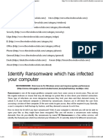 Identify Ransomware Which Has Infected Your Computer