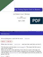 Tdclock Beamer Example