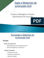 Tecnologia e Materiais de Construção Civil