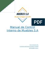 Manual de Control Interno Muebles s.A