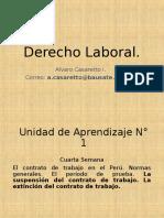 4.derecho laboral-centro de trabajo en el peru, suspencion del contrato y 2da Clase